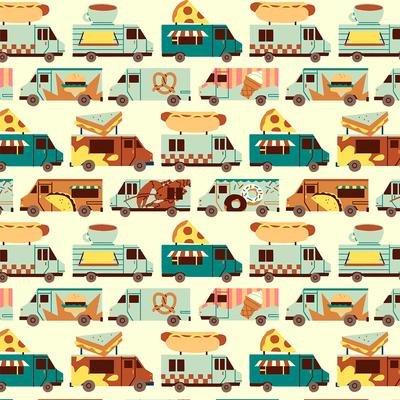 Food Trucks Stripes Tan