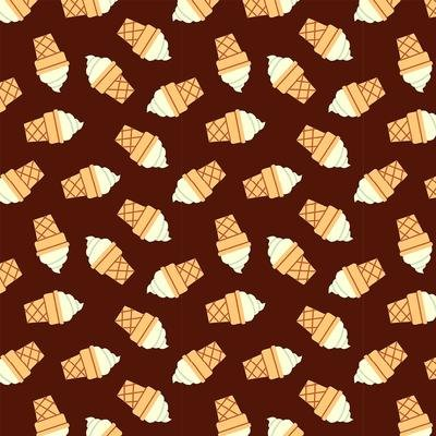 Food Truck Ice Cream Cone Red Brown
