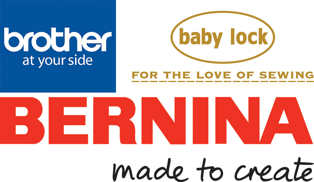 We are an authorized service location for Bernina, Baby Lock and Brother