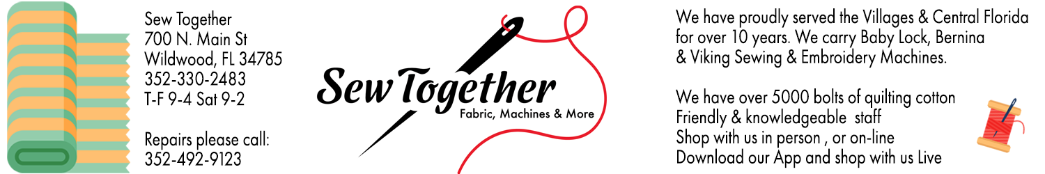 Sew Together wonderful quilting fabric great prices
