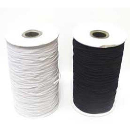 1.5 mm round elastic - White