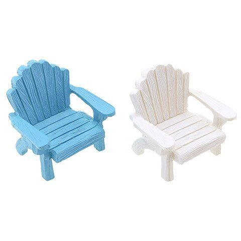 Adirondack Chair Figurine: 1.94 x 2 inches, 2 Assorted Colors
