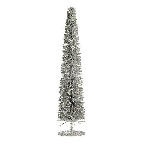Rattan Wire Tree: Silver Glitter, 3.5 x 16 inches