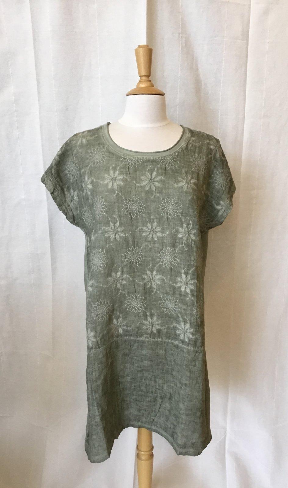 Tempo Paris Linen Embroidered Dress