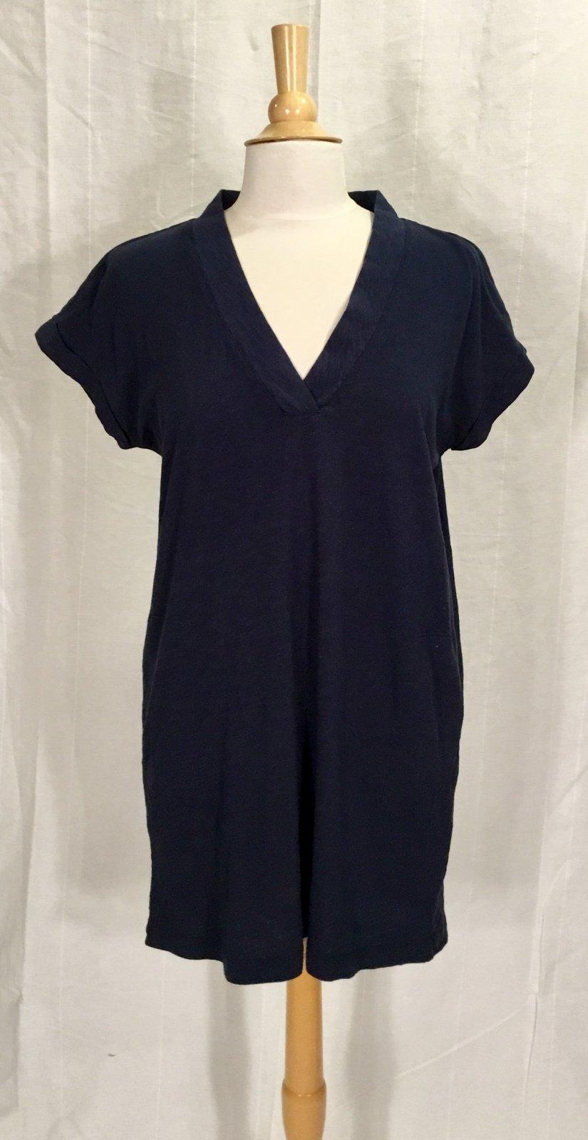 Bobi S/S Dolman V-Neck Dress