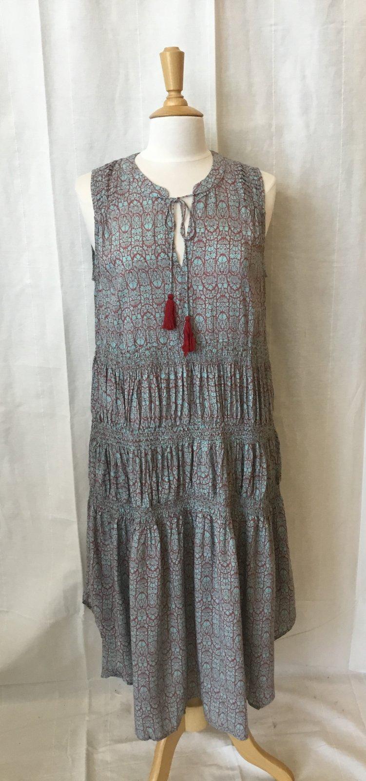 Mystree Smocked Dress W/Tassel