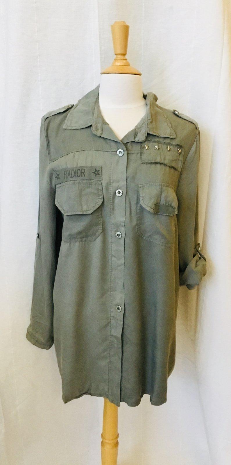 Tempo Paris Olive Button Frt Shirt