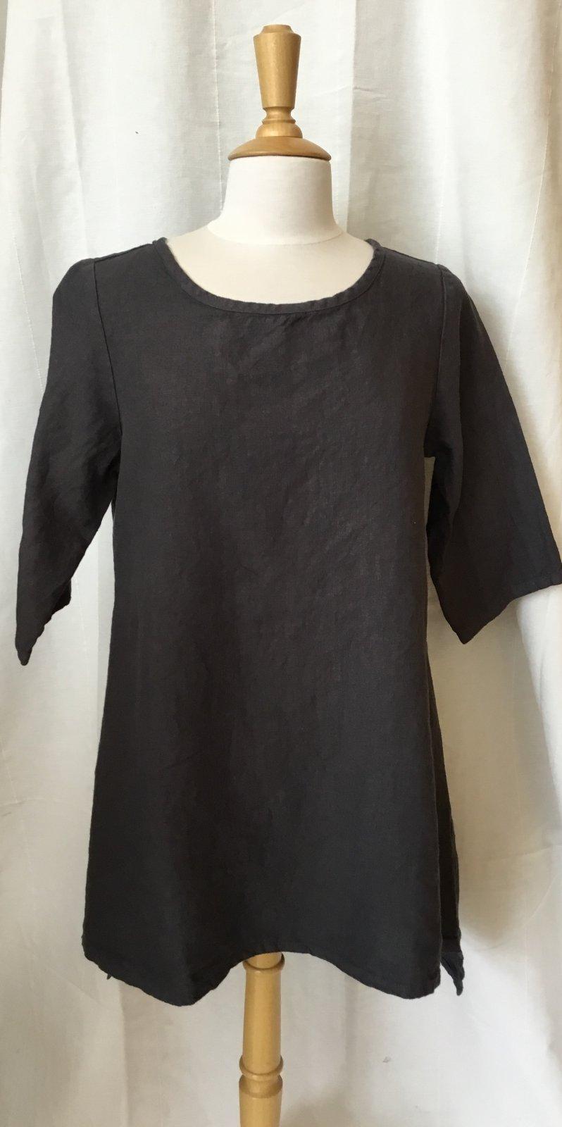 Cut Loose 3/4 slv long linen tunic