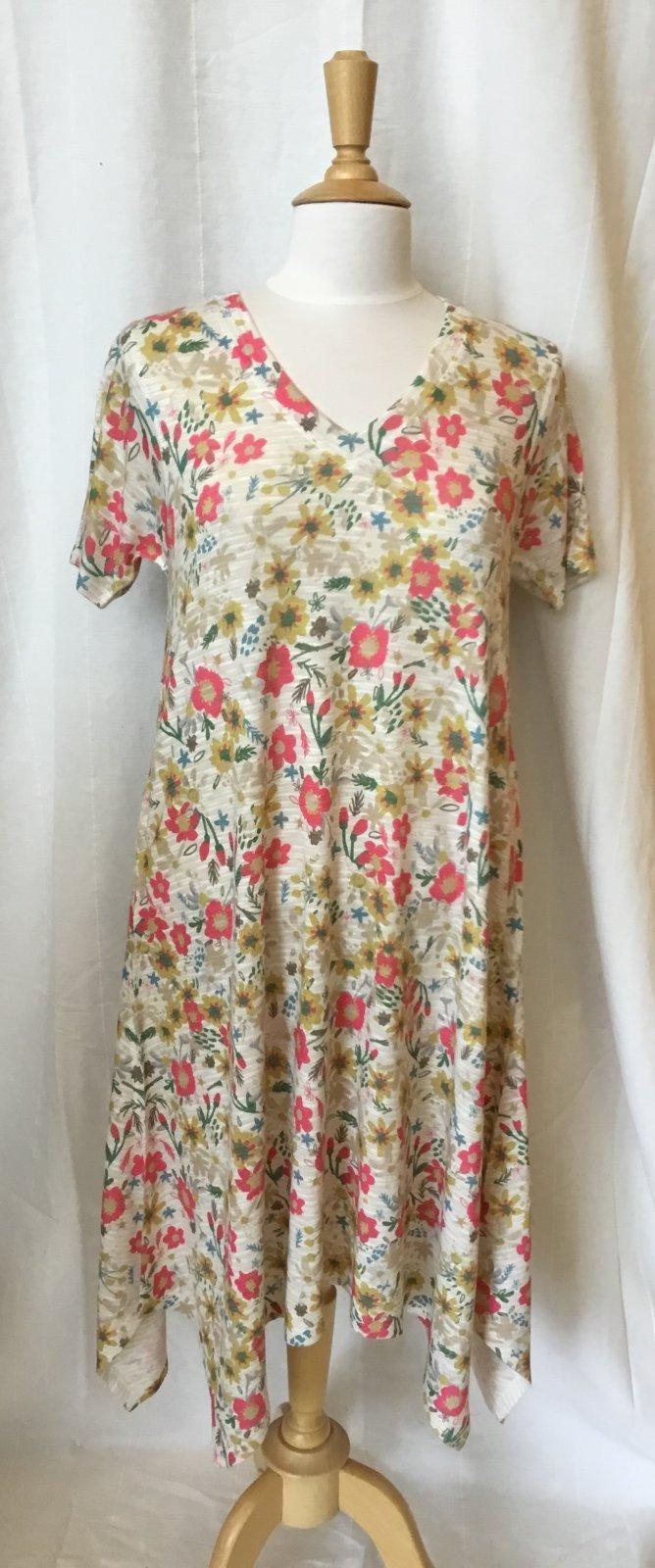 Inoah S/S Dress-Multifloral