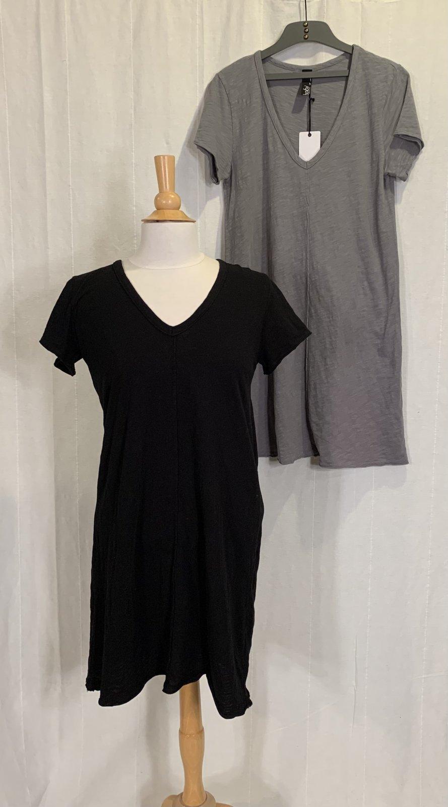 Bobi S/S Vneck Dress