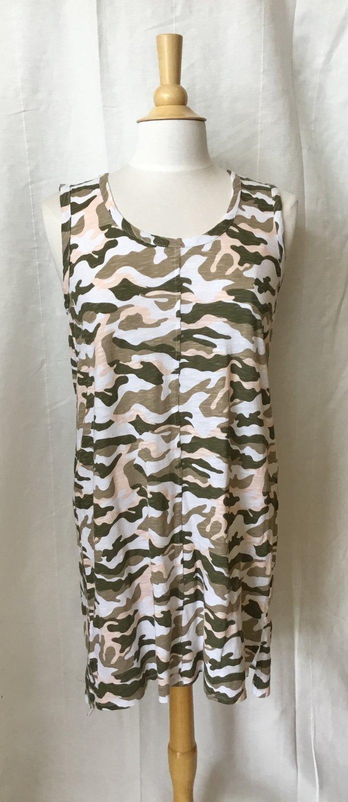 Bobi Tank Dress in Camo print