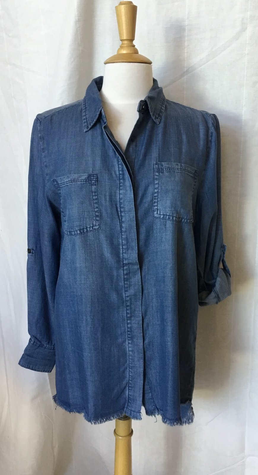 JOH Daphne Fray Edge Denim Tunic