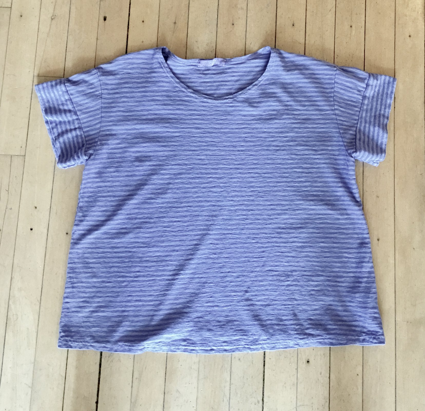 Cut Loose S/S top Linen stripe