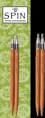 ChiaoGoo - SPIN Bamboo Interchangeable Needle Tips - 4 inch