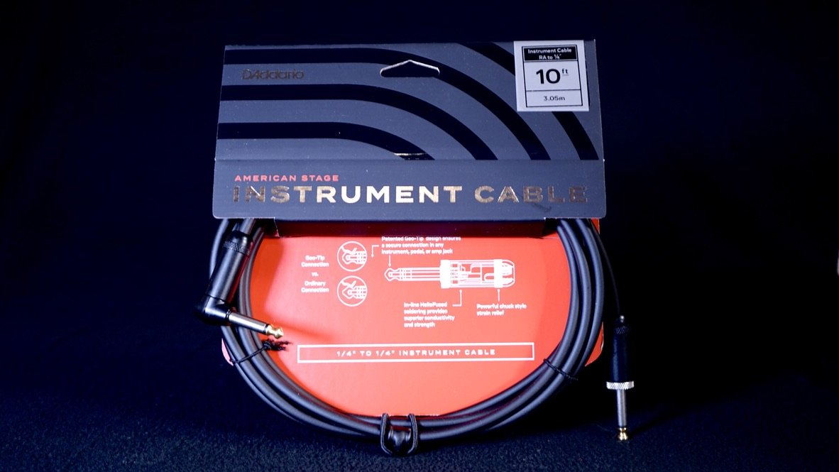 Planet Waves American Stage Series Cable 10FT Right Angle PW-AMSGRA-10