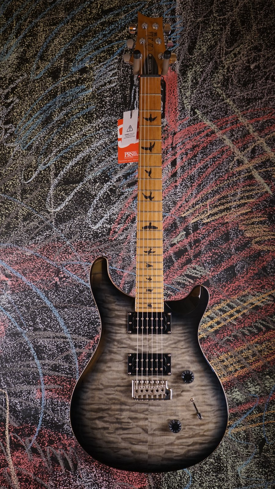 Used PRS SE Custom 24 Roasted Maple Limited Charcoal Burst