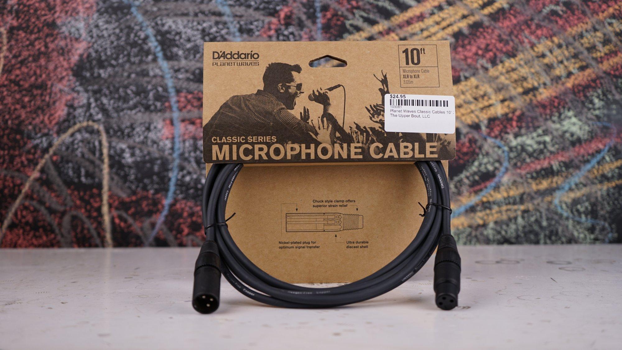 Planet Waves Classic Cables 10' Microphone XLR PW-CMIC-10