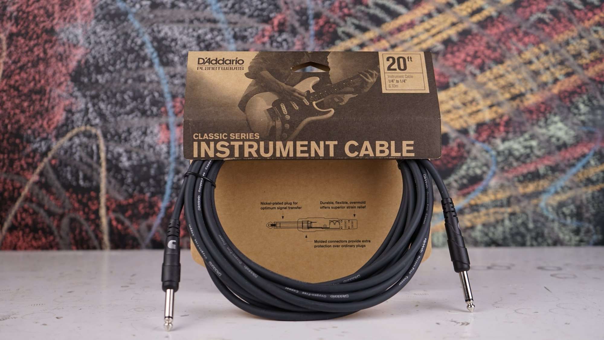 Planet Waves Classic Cables 20' Instrument PW-CGT-20