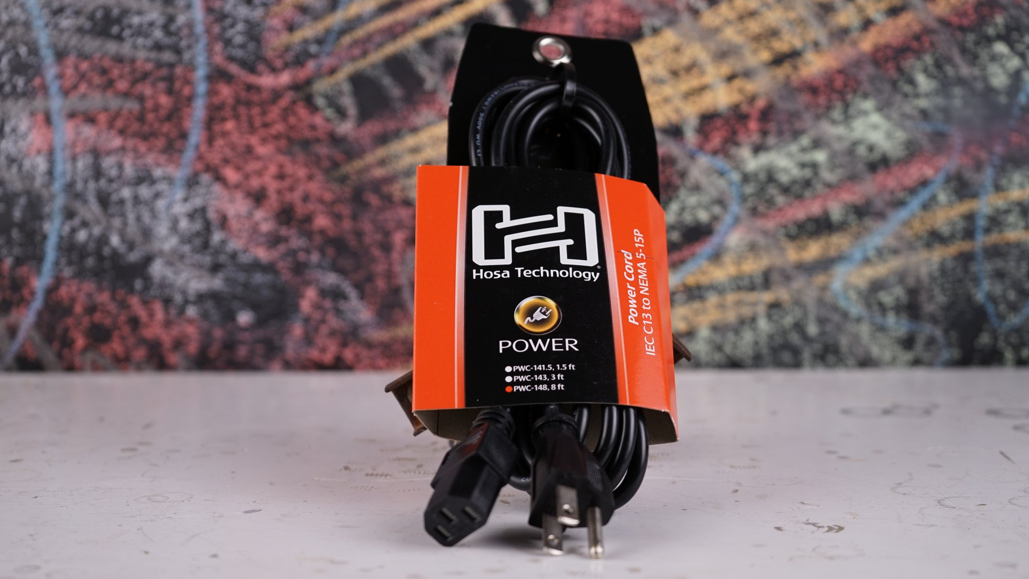 Hosa Grounded Power Cable 8' PWC-148