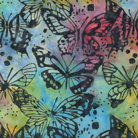Anthology Batiks Rayon Multi Color Butterflies