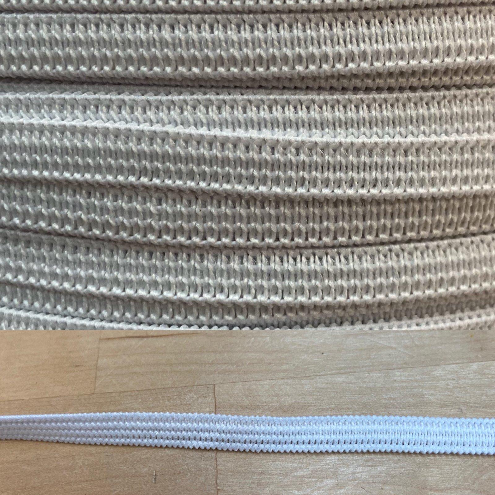 1/4 White knit Elastic soft