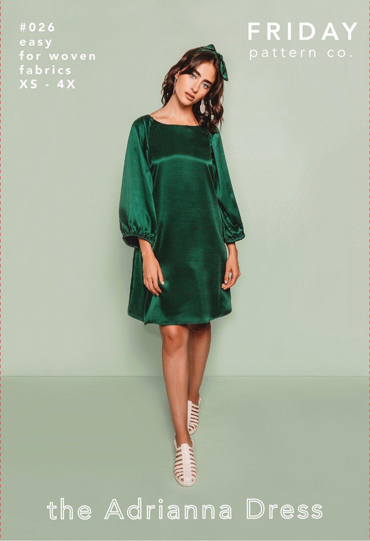 Adrianna Dress Friday Pattern Co.