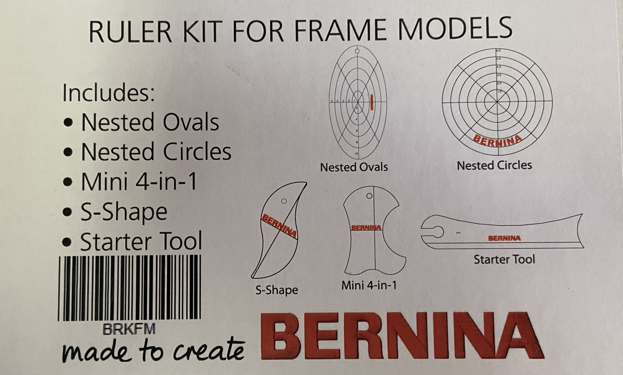 BERNINA Ruler kit to use with Ruler feet Machine quilting