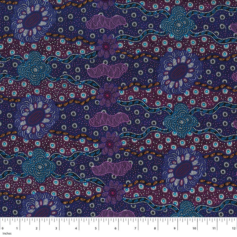 M&S Textiles Lillup Dreaming Purple 2/3 yard piece
