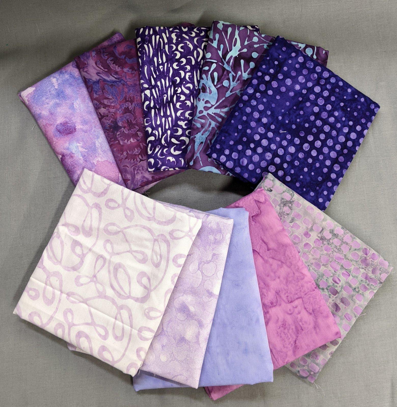 Purple Haze 10 pc fat quarter bundle