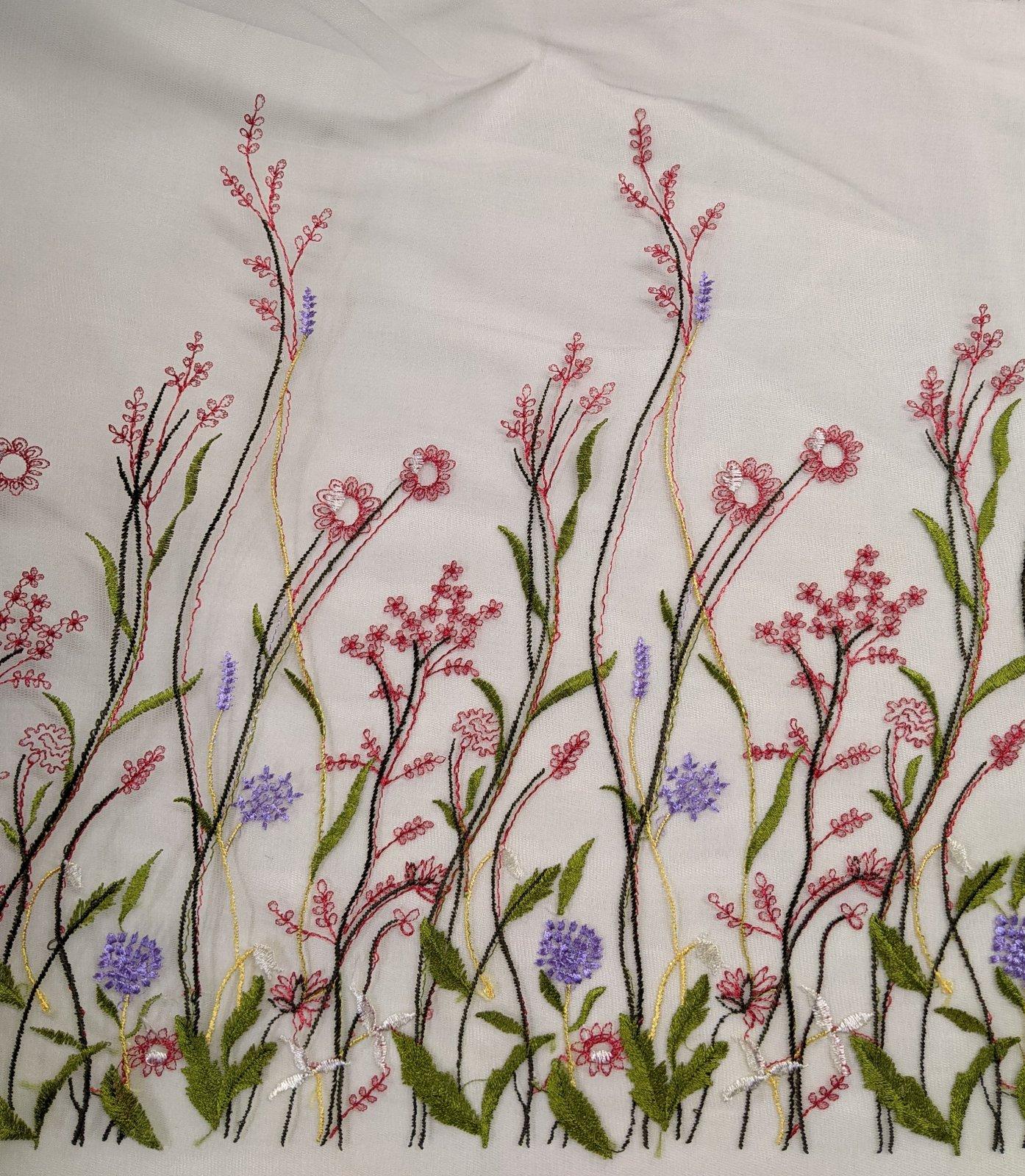 Embroidered Tule