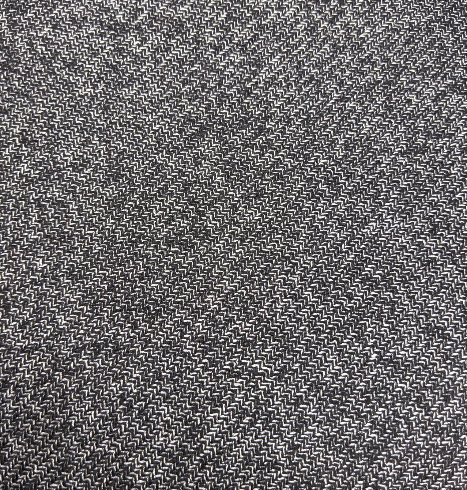 EB Italian Black & White Wool Silk Blend Suiting