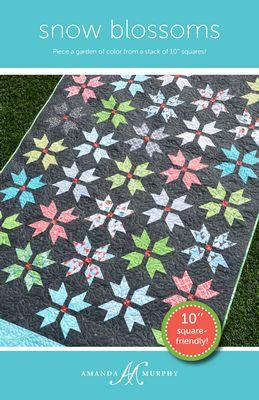 Amanda Murphy Snow Blossoms quilt pattern