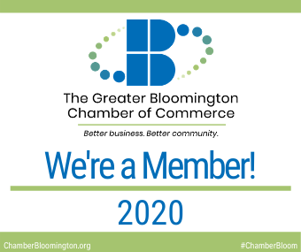 We're a Bloomington Chamber of Commerce Member