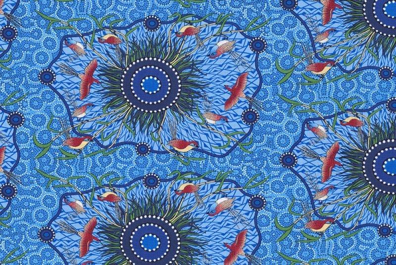 M&S Textiles Yeerung Blue