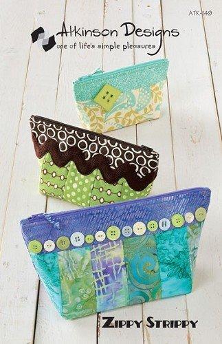 Atkinson Designs Zippy Strippy Zipper bag pattern