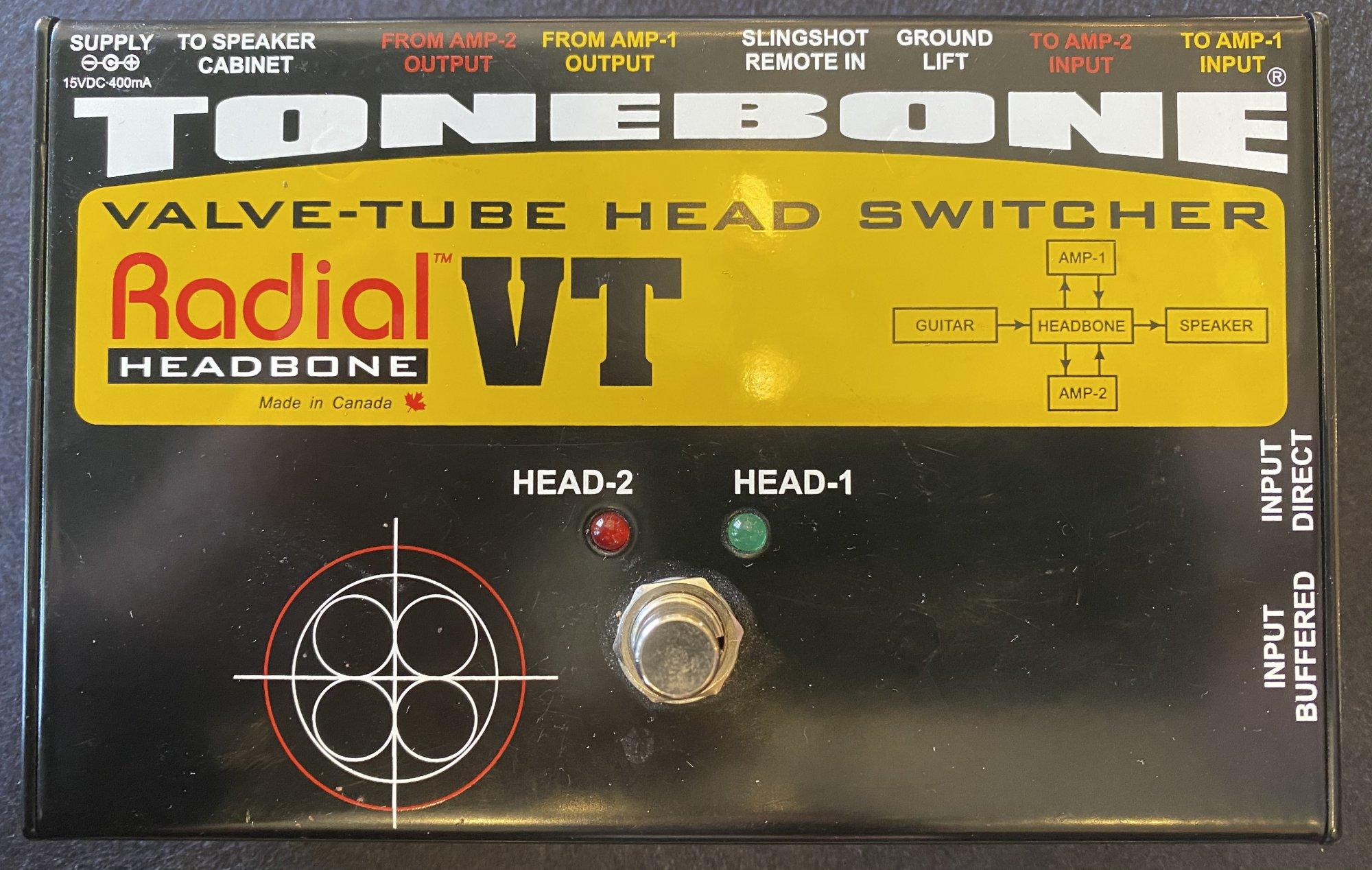 RADIAL TONEBONE VALVE-TUBE HEAD SWITCHER w POWER SUPPLY