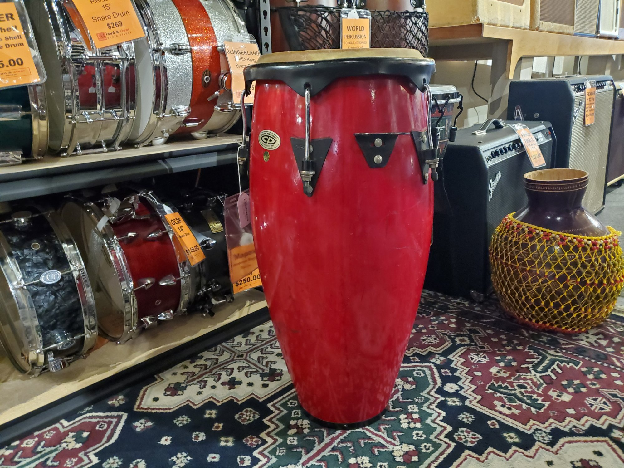 COSMIC PERCUSSION CP 11 CONGA DRUM RED
