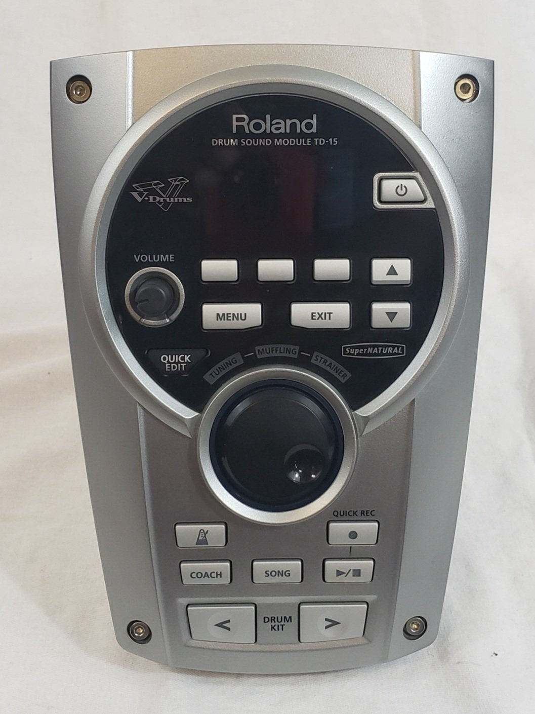 ROLAND TD15 DRUM MODULE, CABLE & POWER SUPPLY