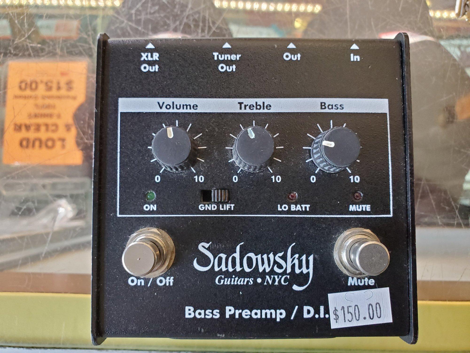 SADOWSKY SPB-1 BASS PREAMP PEDAL