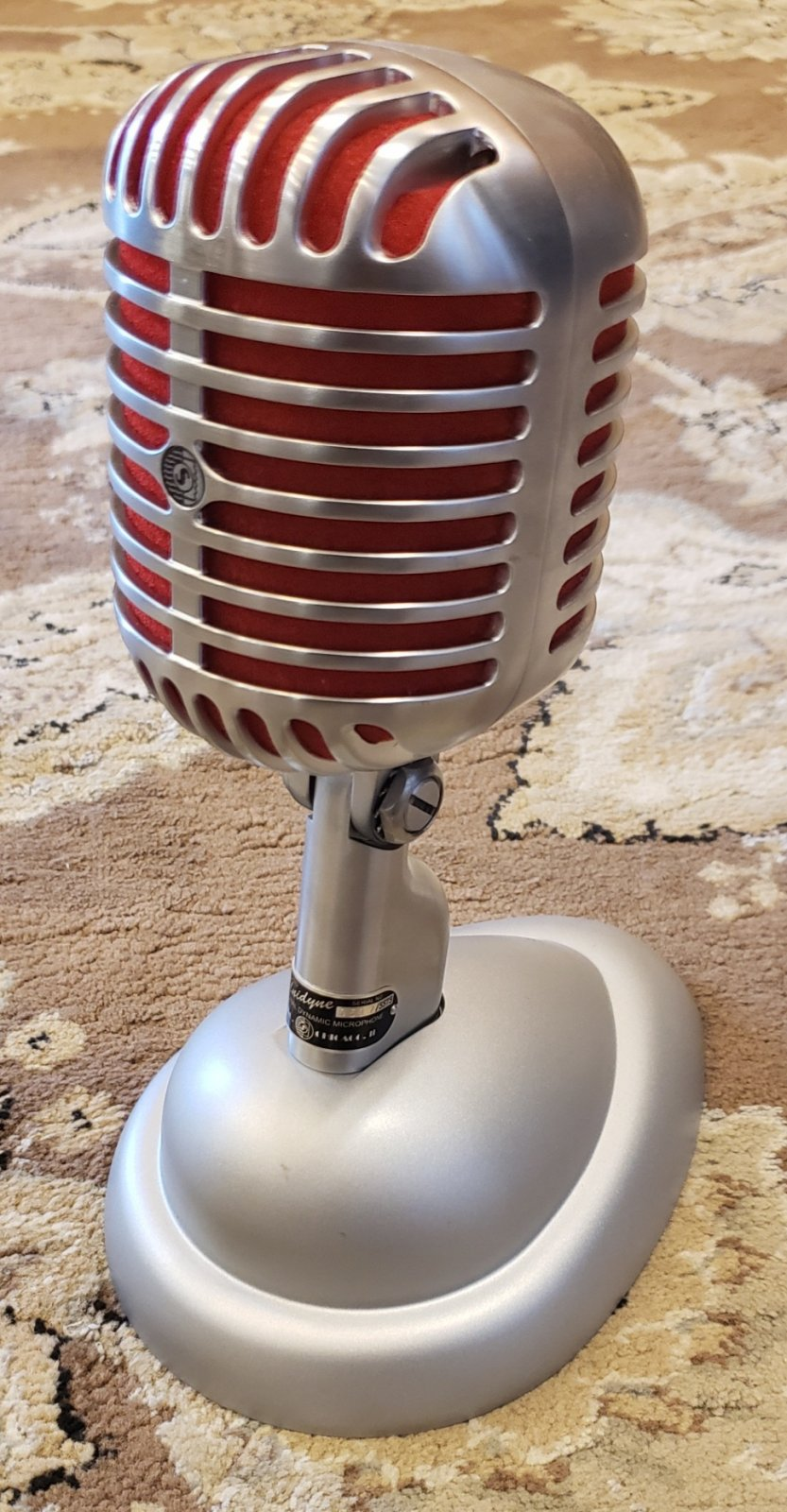 SHURE 75TH ANNIVERSARY 5575LE 521/5575 LIMITED EDITION MICROPHONE WITH CASE STAND CABLE BOX AND COA