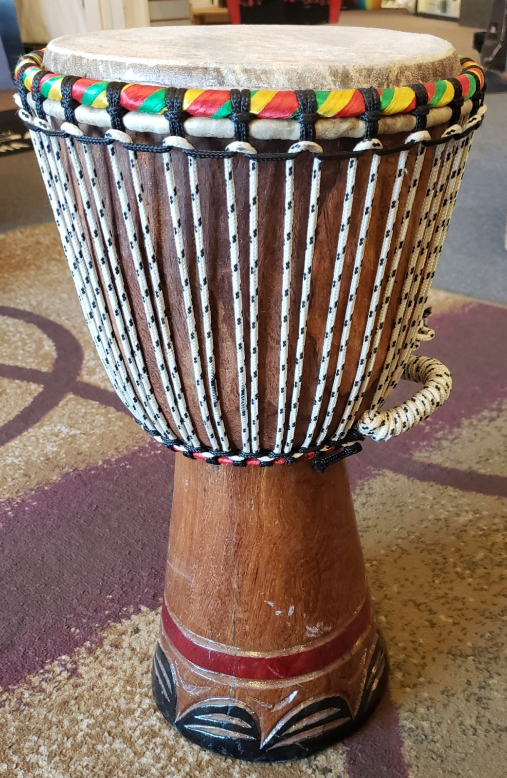 AFRICAN DJEMBE LARGE SIZE HAND DRUM