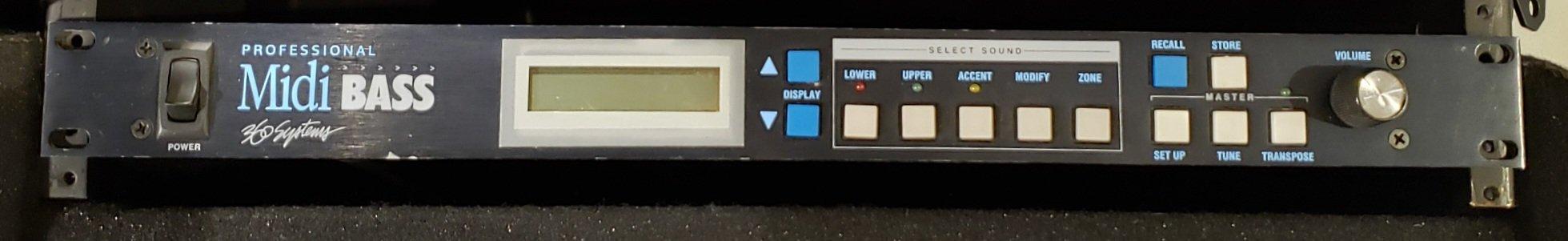360 SYSTEM PRO MIDI BASS SOUND MODULE, BOX