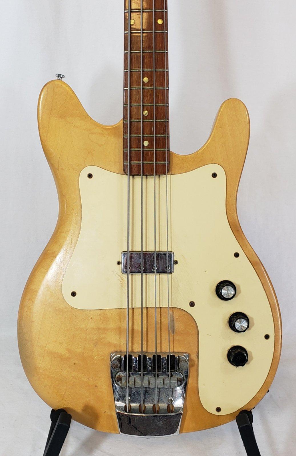 RICKENBAKER 3001 ELECTRIC BASS W CASE, 1978, NATURAL