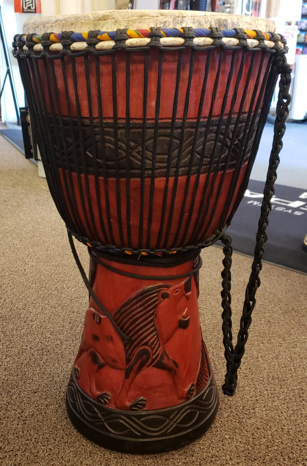 HASAN PERCUSSION LARGE DJEMBE, LION