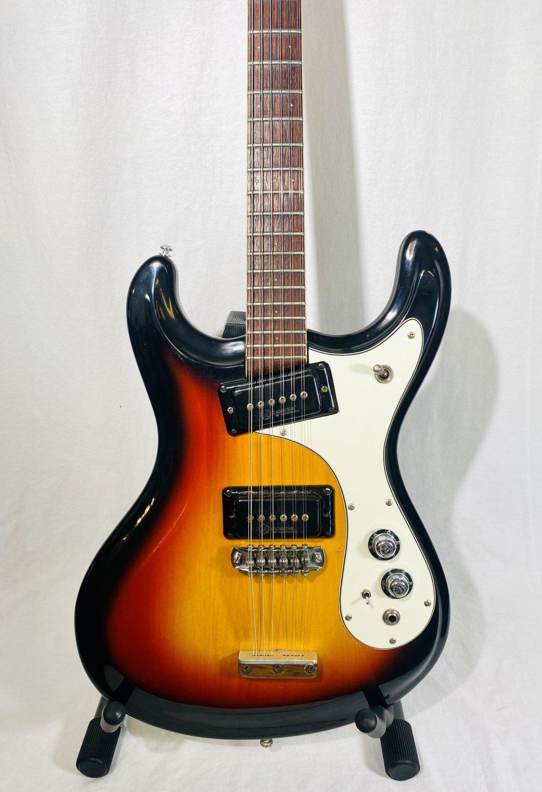 MOSRITE CALIFORNIA MK XII 12-STRING ELECTRIC GUITAR W/CASE, 1968