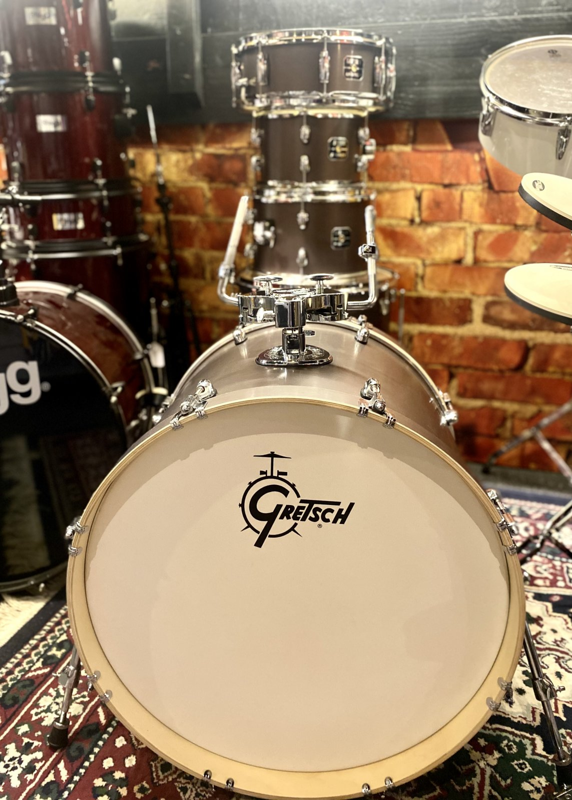GRETSCH ENERGY 5 PIECE KIT WITH KICK PEDAL AND SNARE STAND + EXTRAS