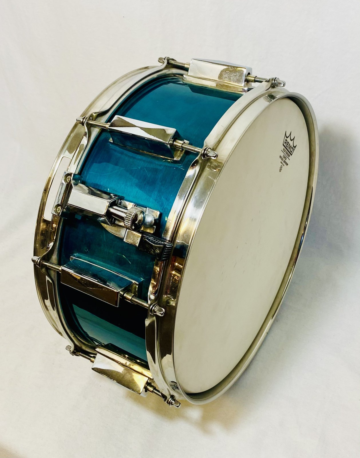 13 SNARE DRUM WITH KELLER SHELL, TURQUOISE