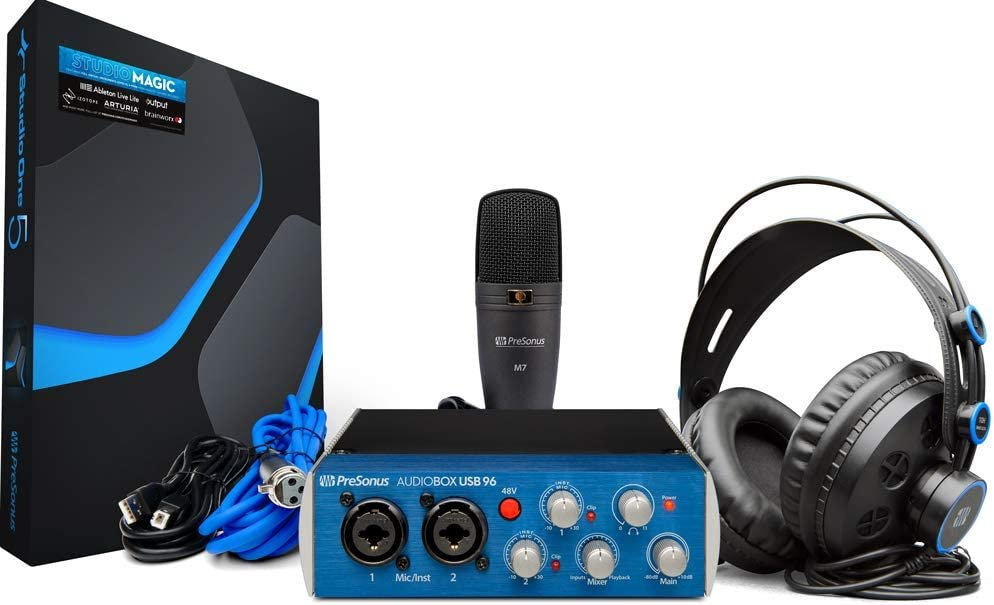PRESONUS AUDIOBOX 96 STUDIO BUNDLE, USB AUDIO INTERFACE AND ACCESSORIES