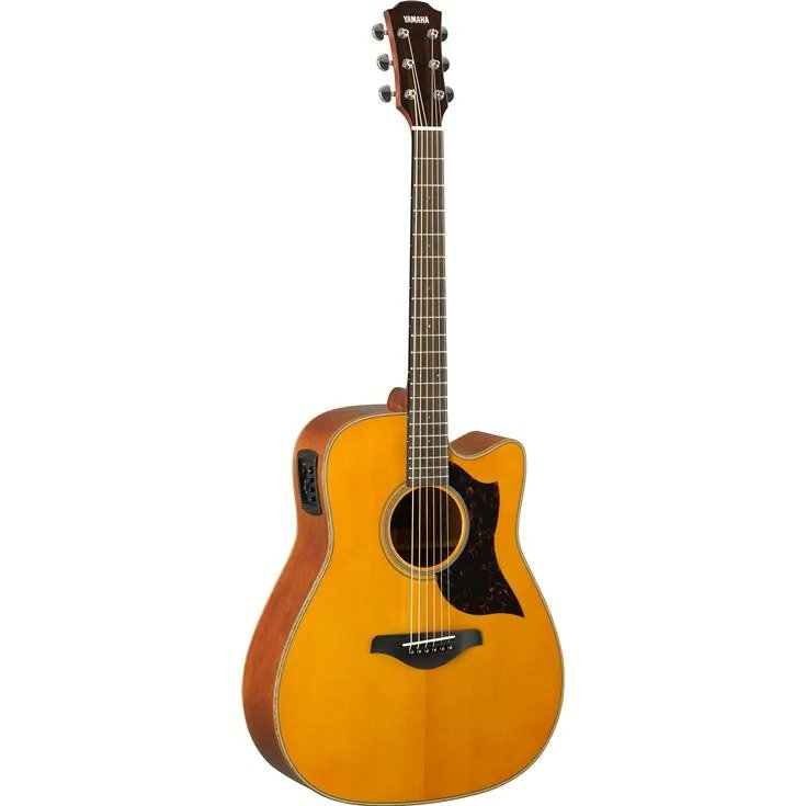 YAMAHA A1M VN ACOUSTIC / ELECTRIC GUITAR; MOHAGANY BACK / SIDES