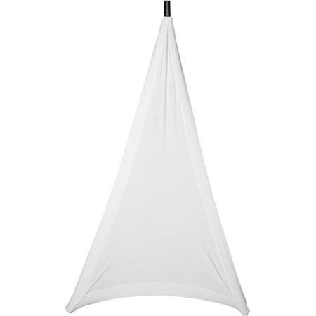 GATOR GPA-STAND-1-W STRETCHY COVER TO COVER ONE BASE SIDE OF MOST TRIPOD STYLE SPEAKER STANDS. WHITE